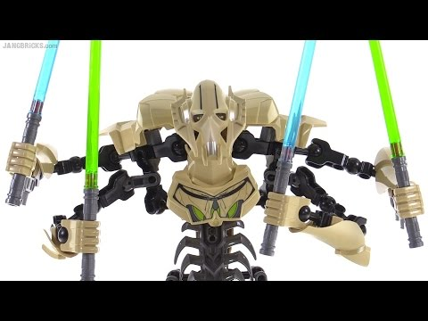 LEGO Star Wars buildable General Grievous review 75112  YouTube