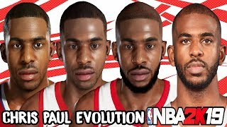 Chris Paul Ratings and Face Evolution (NBA 2K6 - NBA 2K19)