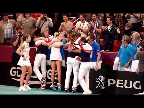 FedCup - Rencontre France-Suisse - Balle de match + Célébration