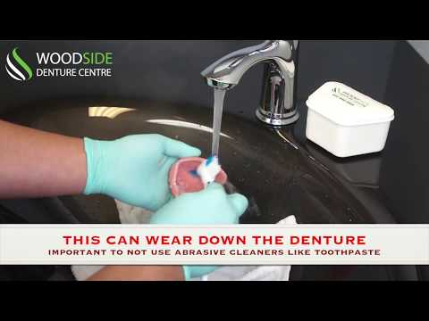 How to Clean Your Dentures..? | Woodside Denture Clinic