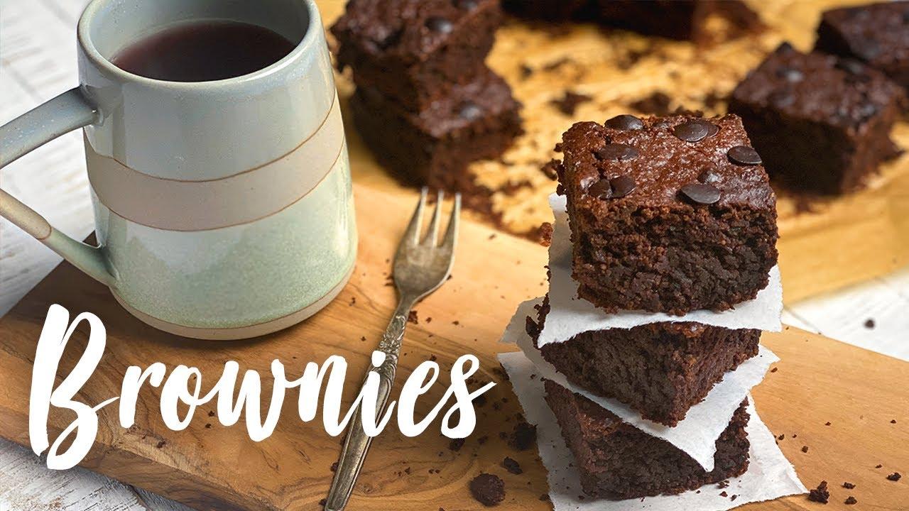 Vegane Brownies - wenig Zutaten und SUPER SAFTIG - schnell & einfach selber machen