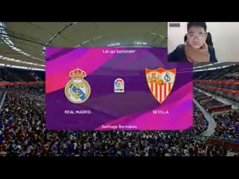 Real Madrid Vs Sevilla Pes 2020 Gameplay Youtube