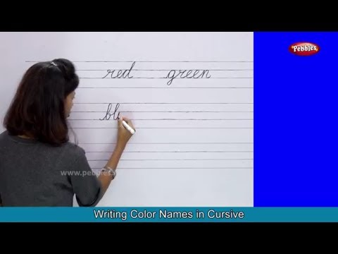 Colors Names With Spellings Shapes With Pictures Cursive