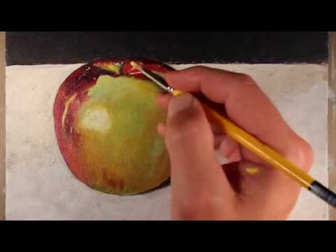 Acrylic Painting - Still Life: Learn the basics of painting with acrylics is in this lesson. More on this lesson can be found here...http://thevirtualinstructor.com/acrylicapple.html  An apple is a great subject for basic painting practice.
