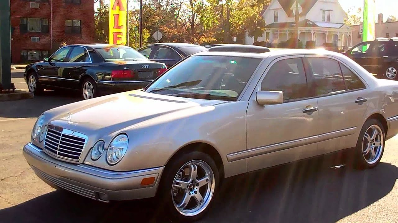 1998 mercedes e320 sedan 4dr 3 2l 6cyl at leather moonroof youtube. Black Bedroom Furniture Sets. Home Design Ideas