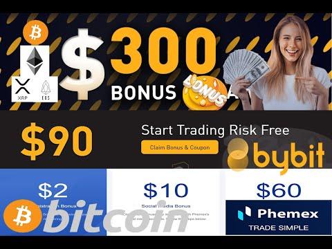 FREE BITCOIN Claim 162USD On BYBIT And PHEMEX + 300USD MEGA BONUS + 50USD Bitcoin GIVEAWAY !!
