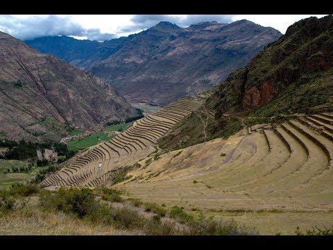 Ancient Inca Fortress Of Pisaq And Massive Moray Amphitheater In Peru