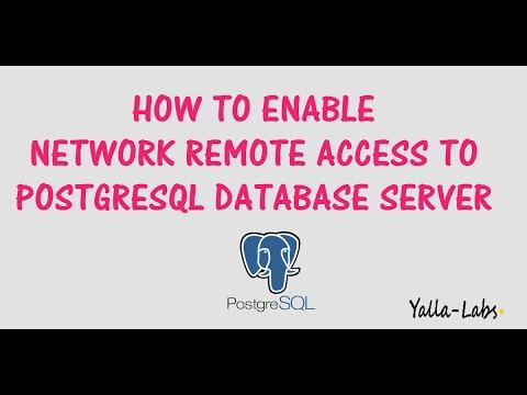 PostgreSQL - How To Enable Network Remote Access To PostgreSQL Database  Server