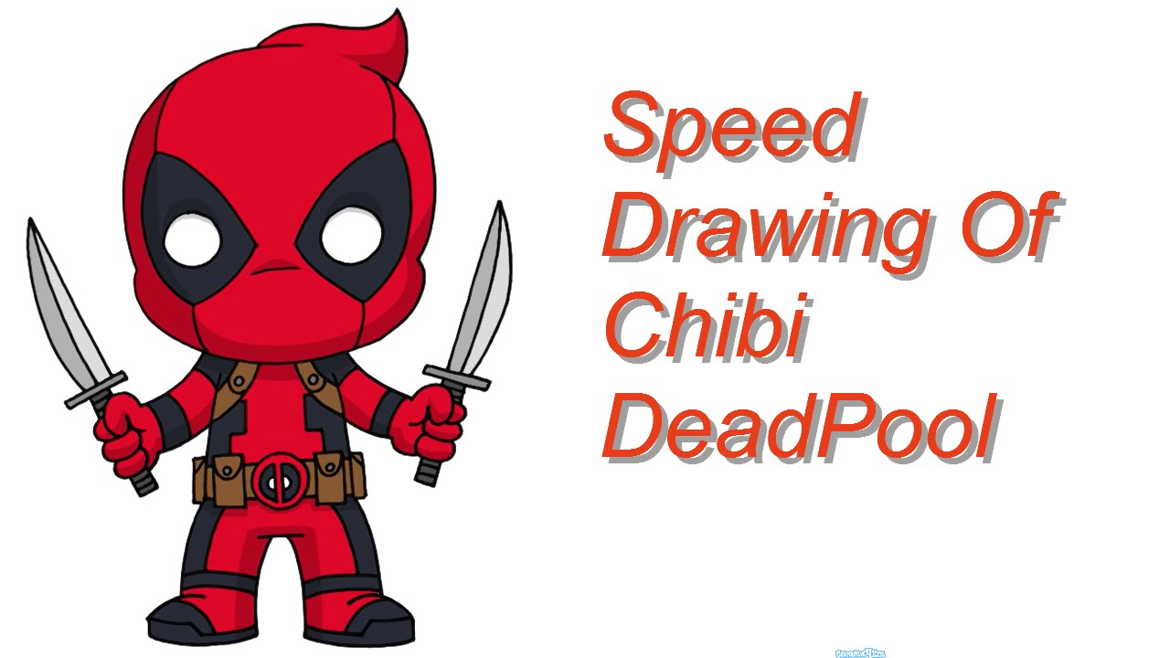 It's just a photo of Bewitching Chibi Deadpool Drawing