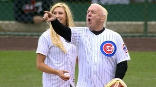 Video Ric Flair's daughter throws the first pitch download MP3, 3GP, MP4, WEBM, AVI, FLV November 2017