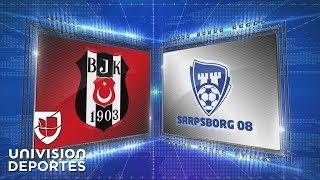 Besiktas 3-1 Sarpsborg - GOLES Y RESUMEN - Grupo I Europa League
