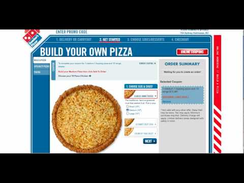 Domino's Pizza - Ordering Online with a Coupon Code - YouTube