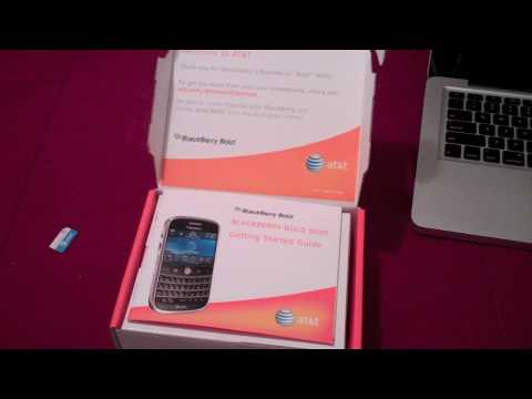Blackberry Bold 9000 Unboxing
