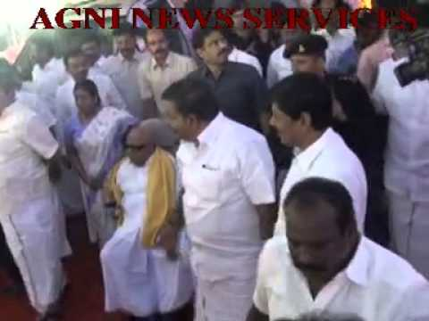 TRICHY .. DMK PRESIDENT M.KARUNANIDHI VISITS THE CONFERENCE VENUE