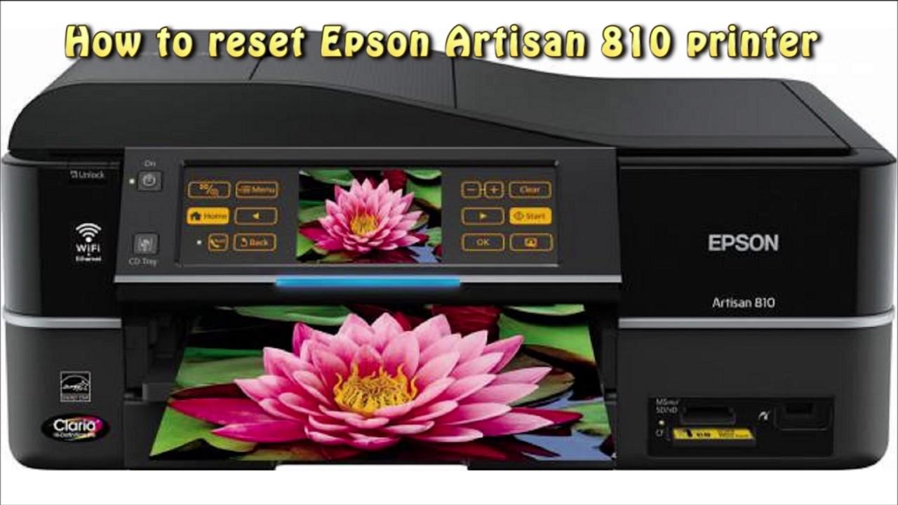 Epson Artisan 810 Printer Windows 7