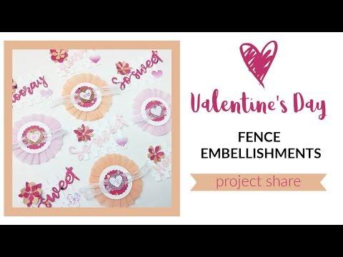 Valentine's Day Fence Embellishments