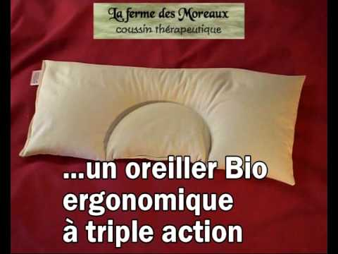 oreiller v g tal ergonomique bio youtube. Black Bedroom Furniture Sets. Home Design Ideas