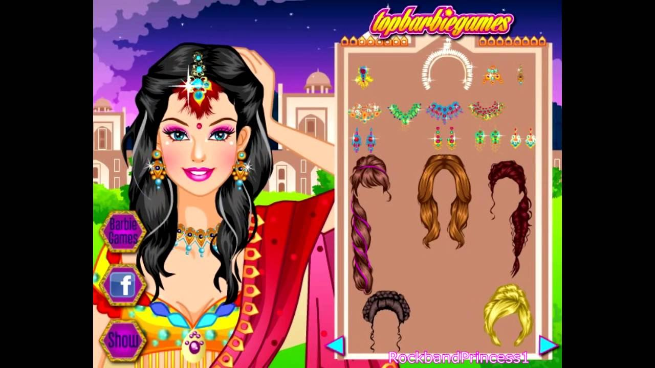 Indian Sari Barbie Dress Up Games for Girls