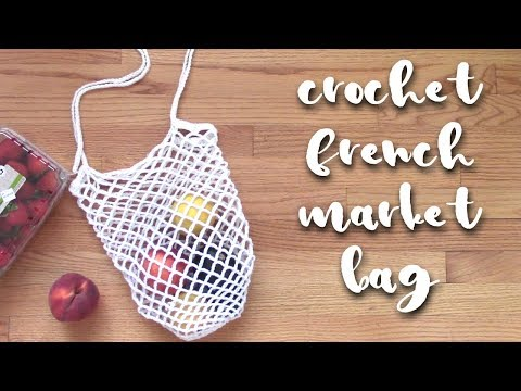 Crochet French Market Bag // 🍋