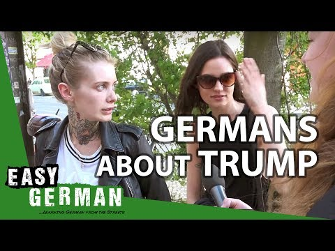 Trump supporters claim Germans love him but actual Germans on the streets of Berlin prove otherwise