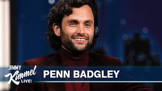 """Penn Badgley on New Friendship with Cardi B, Petition to Get Her on """"You"""" & How He Got His Name"""