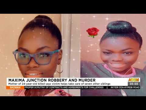 Mother of 24-year-old killed says victim helps take care of seven other siblings- Adom TV (16-7-21)