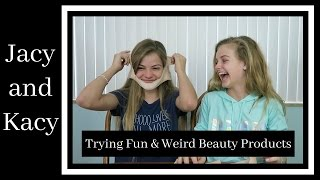 Trying Fun & Weird Beauty Products ~ Jacy and Kacy