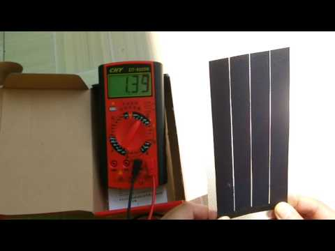 Solar Battery Charger Flexible Thin Film Solar Panel Module DIY 1W 6V Cell Rechargeable Battery
