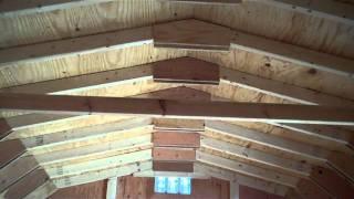 12x16 Wood Dutch Barn, Barns, Alan's Factory Outlet Virginia
