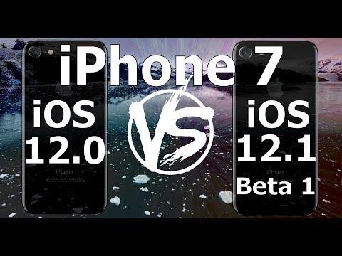 Speed Test : iPhone 7 - iOS 12.1 Beta 1 vs iOS 12.0 (Build 16B5059d) Public Beta 1