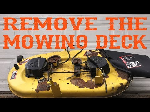 How To Remove The Mowing Deck From a Riding LawnMower