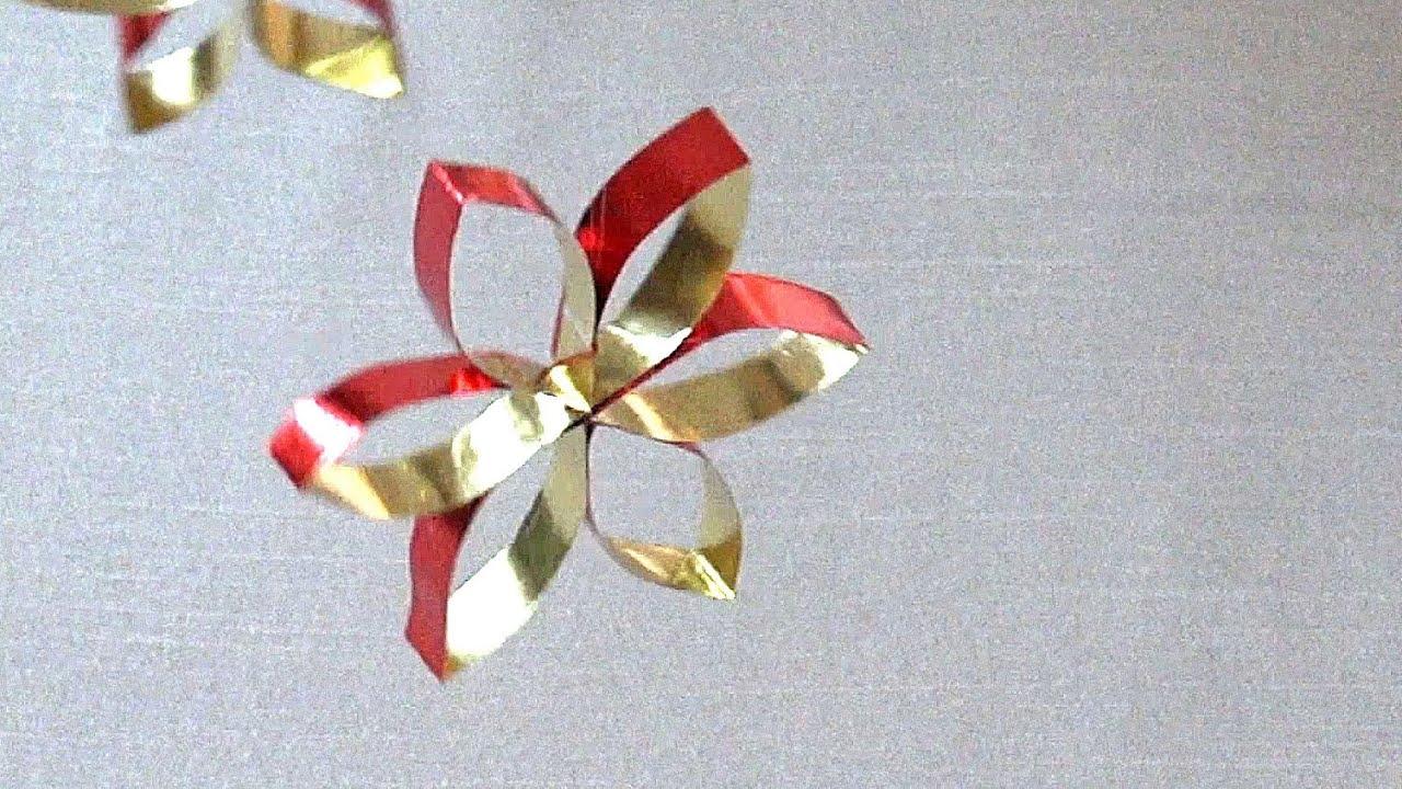 Weihnachtsbasteln Sterne Aus Goldpapier.Einfacher Stern Aus Bastelfolie Basteln