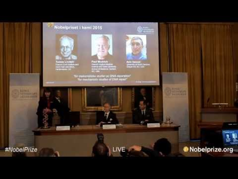 Announcement of the Nobel Prize in Chemistry 2015