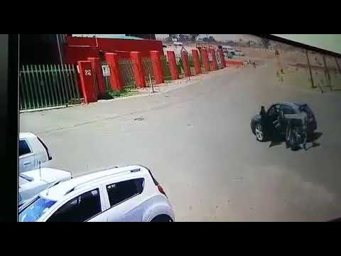 Cash in transit driver used vehicle as a Weapon to try and stop the perpetrators.