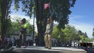 Large Police Presence As Free-Speech Protesters Gather In Berkeley