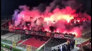 Foggia - Cesena: la torciata della curva nord Franco Mancini