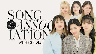 "(G)I-DLE Sings ""Oh my god,"" TWICE, and Jackson Wang in a Game of Song Association 