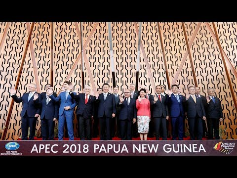 APEC leaders pose for family photo in Port Moresby