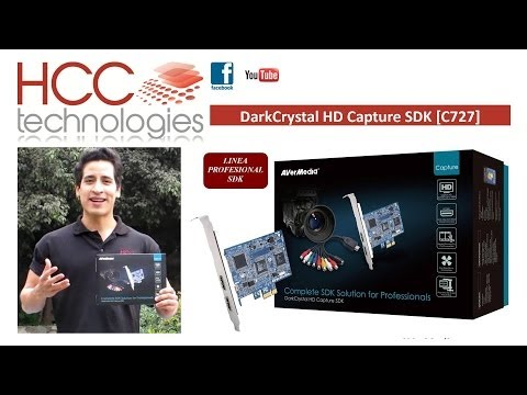 Tarjeta Capturadora de Video HD HDMI 1080i DarkCrystal HD Capture SDK C727 AVerMedia