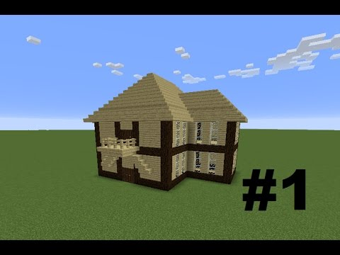 Minecraft How To Make Simple Wood House 1 Template