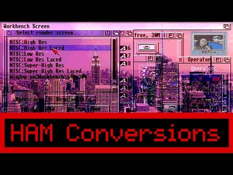How to Convert Modern Photos to Commodore Amiga HAM Mode