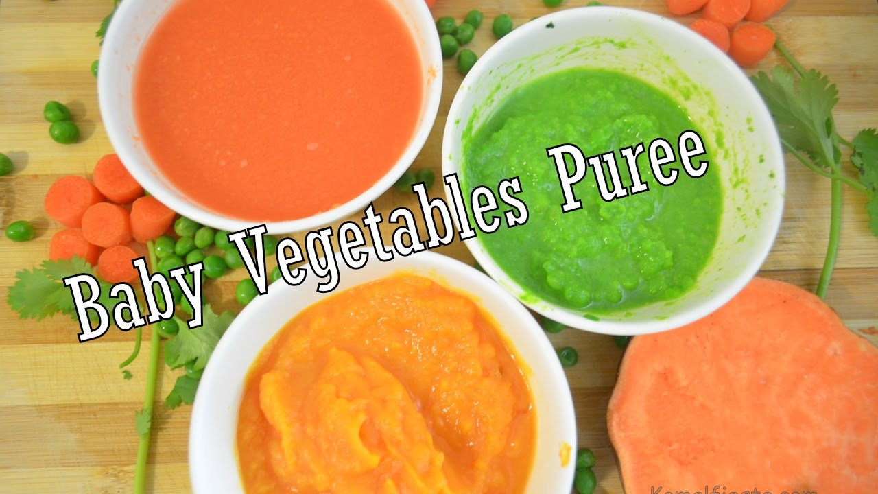 Baby Food Vegetables Purees For