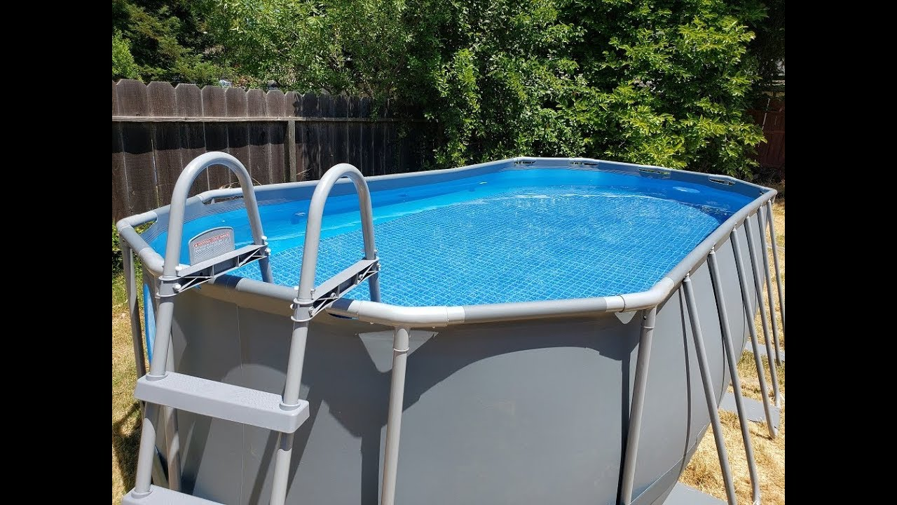 Putting Together A Costco Swimming Pool - YouTube