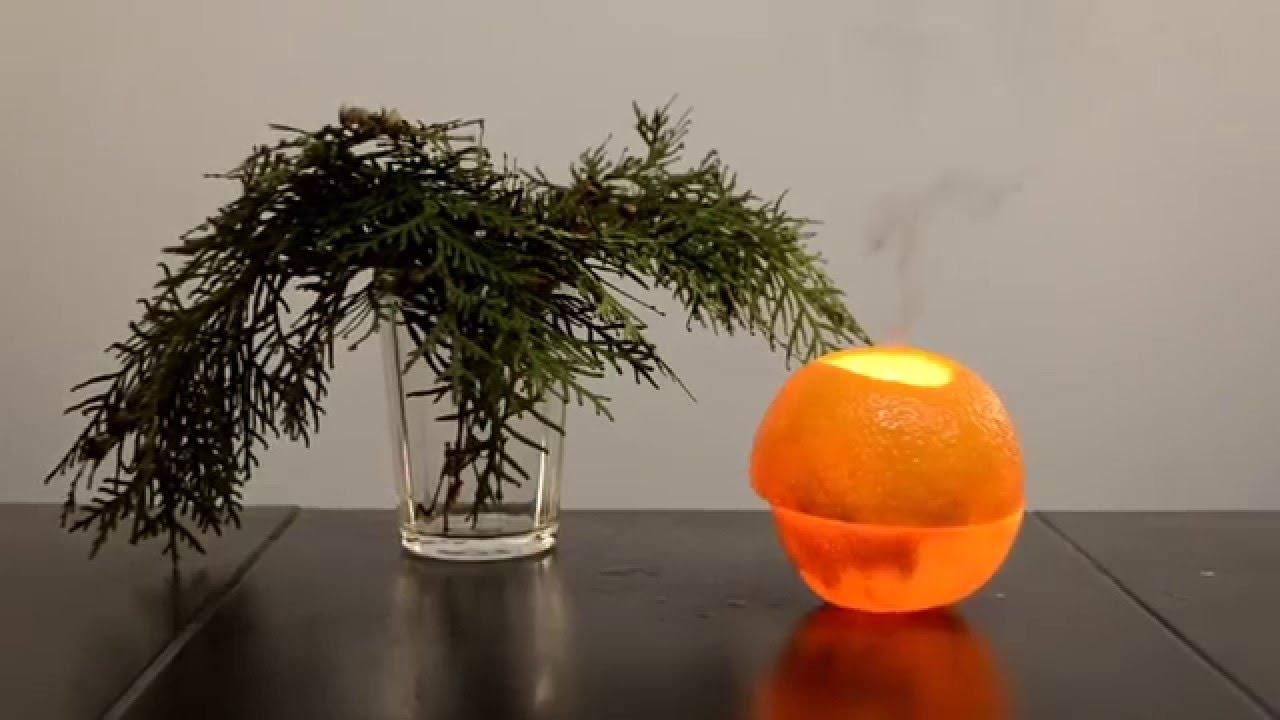 Новогодняя свеча из апельсина и оливкового масла/Christmas candle of orange and olive oil
