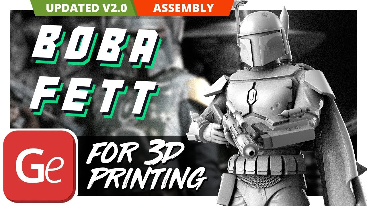 Boba Fett 3D Printing Figurine | Assembly by Gambody