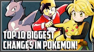 Top 10 BIGGEST Changes in Pokemon! thumbnail