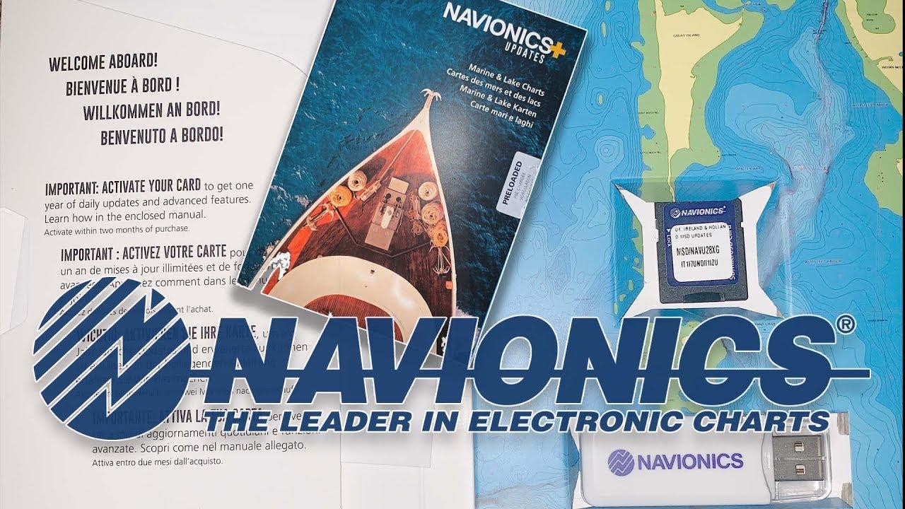 How to use Navionics+ Updates to refresh old Navionics chart card