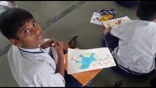 Drawing competition at kamothe schools to create awareness about Save Water  Marathon 2016