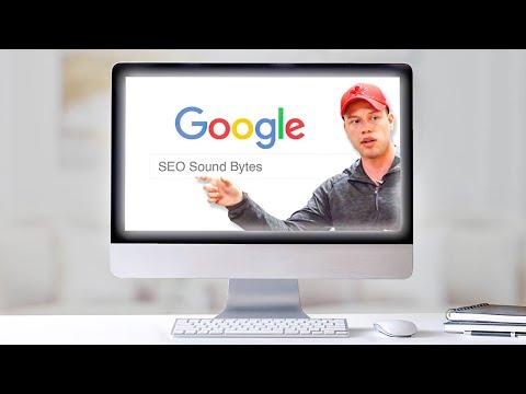 Search Engine Optimization Sounds Bytes