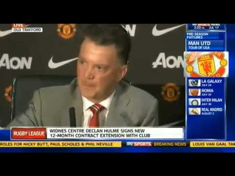 Louis Van Gaal's first Man United Press Conference(Full Interview-HD)